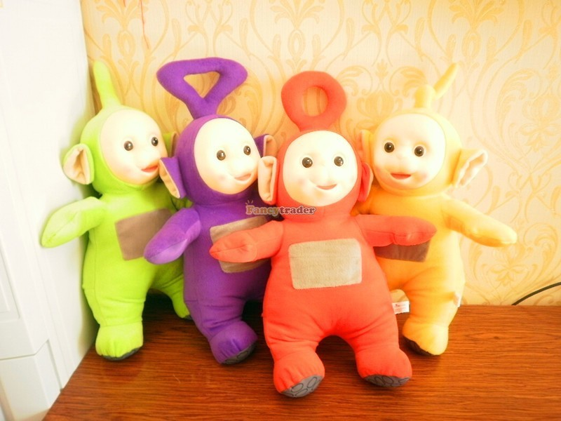 Fancytrader Super Quality Full Set 4 pcs 20\'\' 50cm Copyrighted Plush Stuffed Teletubbies FT90434 (1)