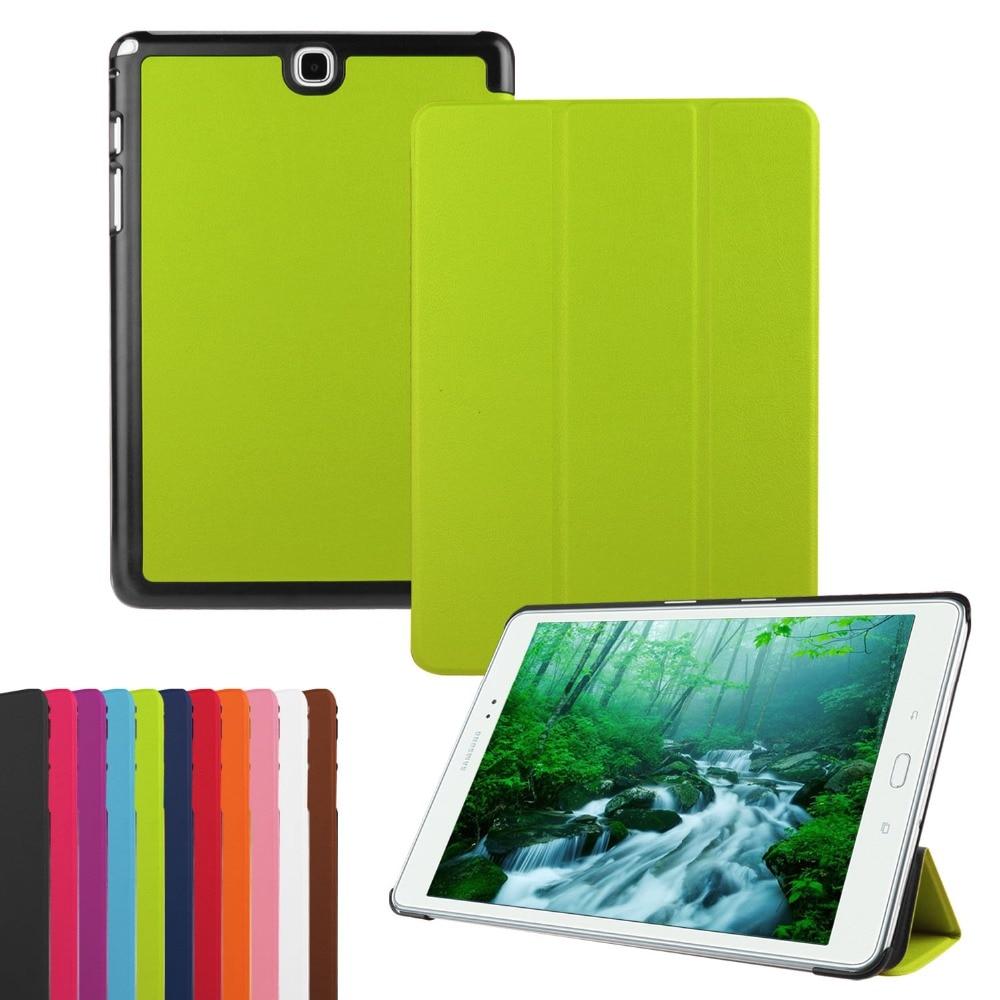 """Цена за Для Samsung Galaxy Tab 9.7 SM-T550 SM-T555 случае 9.7 """"Кастер Tri-Fold Folio из искусственной кожи защитный чехол чехол для Galaxy T550"""