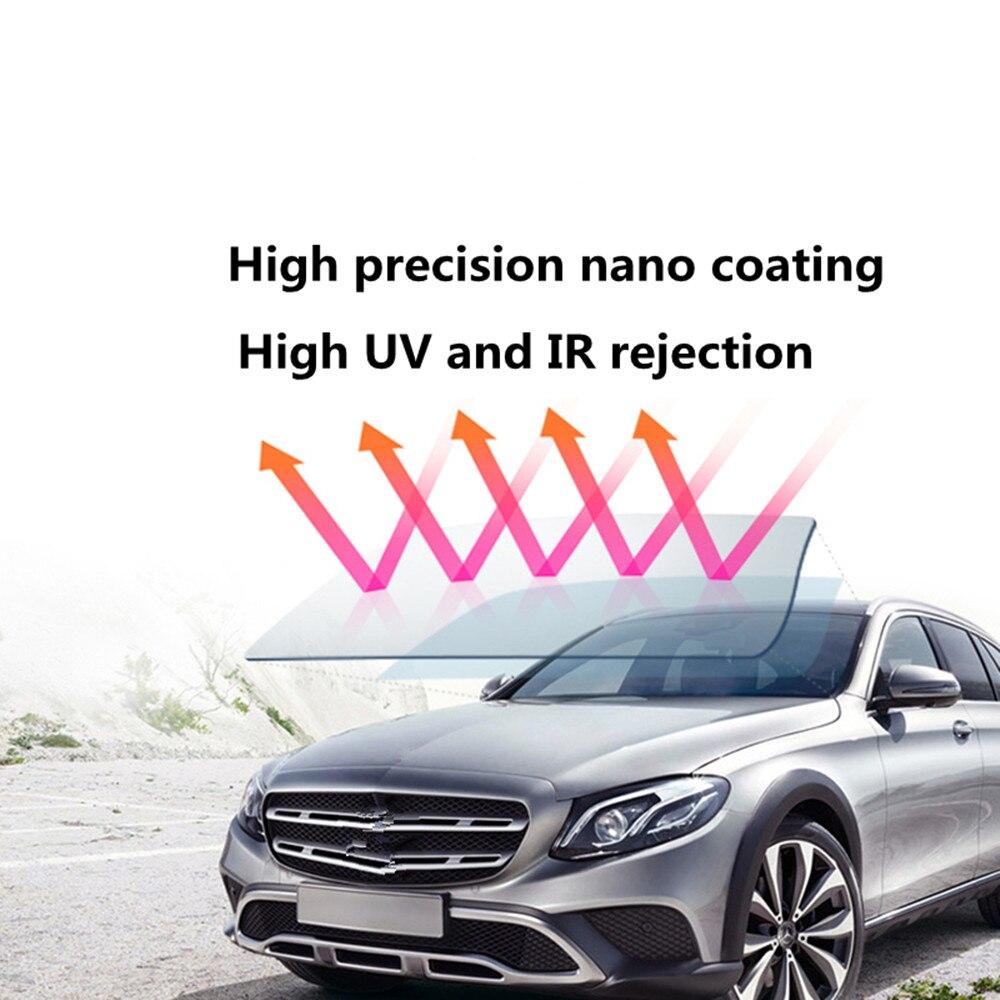 VLT50 % ~ 34% Nano Film photochromique en céramique UV preuve IR réflexion Film de teinte solaire haute transparence Film de fenêtre 152x100 cm