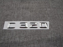 ABS Plastic Car Trunk Rear Letters Badge Emblem Decal Sticker for Mercedes Benz C Class C320