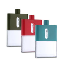 Portable 530ml A5 Size outdoor Water Bottle Creative Plastic Travel Sports  Paper Square Flat Kettle for students