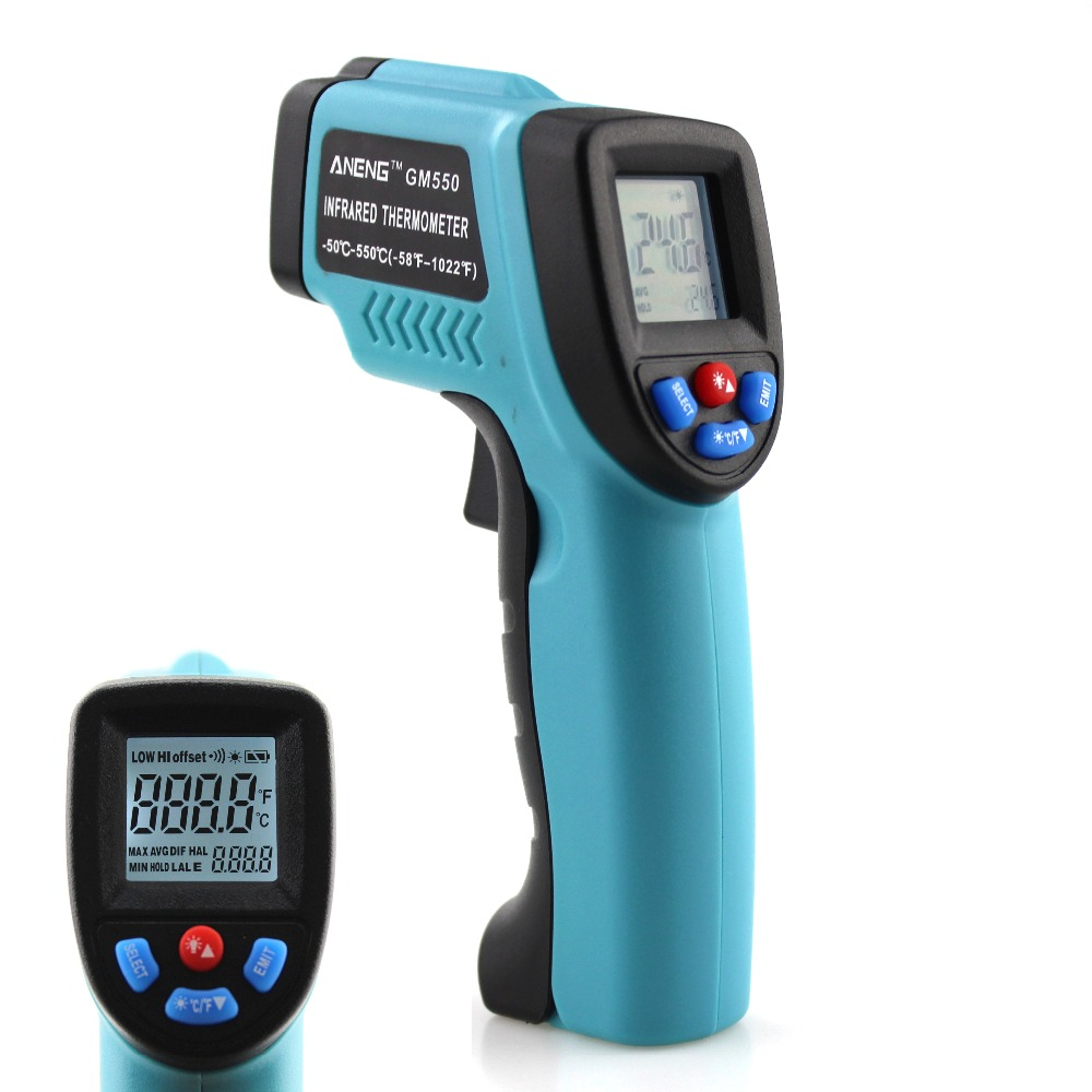 ANENG GM550 Fahrenheit Digital infrared Thermometer Pyrometer  laser  Outdoor thermometer Celsius thermometers