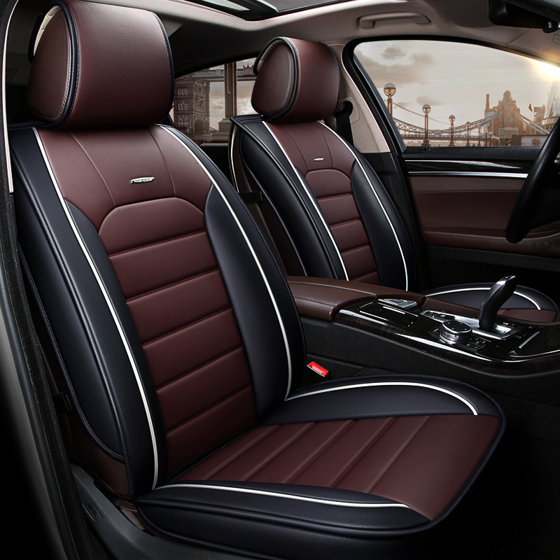 Car travel 2017 news Luxury leather car seat cover universal seat Covers for Opel Astra honda cars cushion car accessories style