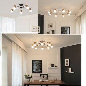 Image 2 - الحديثة الرجعية الثريا للمطبخ غرفة نوم معلقة الثريات الحديد العتيقة النمط الأمريكي الحديد المطاوع مصباح LED الحديثة الرجعية