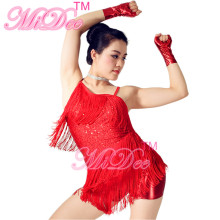 Braces Skirt Tassels Sequins Ballroom Latin Dance Dress Salsa Samba Dance Dress Cha Cha Costume For Girls