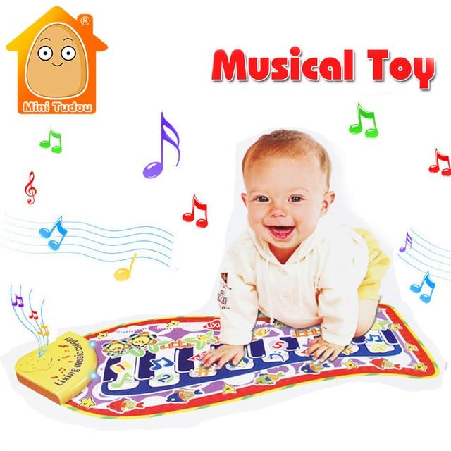 MiniTudou Giocattoli Musicali di Pianoforte Di Puzzle Gioco Stuoia Per Il  Bambino Appena Nato Playmat Gioco aafbe868c94e
