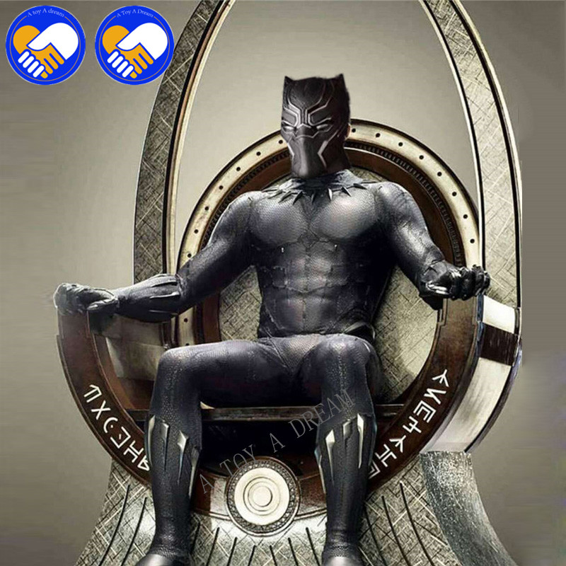 NEW 17cm Black Panther Throne Vacanda Action Figure 1/6 Scale Model Dolls Decoration PVC Classic Collection Figurine Kids Toys new hot black panther throne & game of thrones a song of ice and fire 1 6 scale model dolls decoration pvc action figure toy