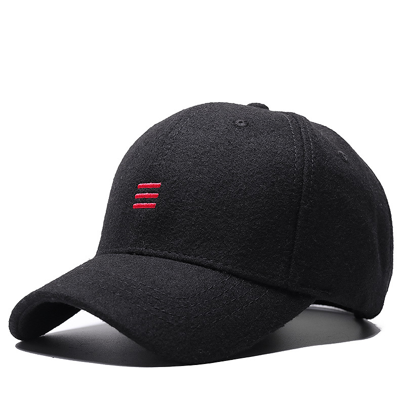 2019 Autumn and Winter Large Size   Baseball     Caps   Old Men Warm Wool Hat Big Head Man Plus Size Felt Snapback   Cap   55-60cm , 60-65cm