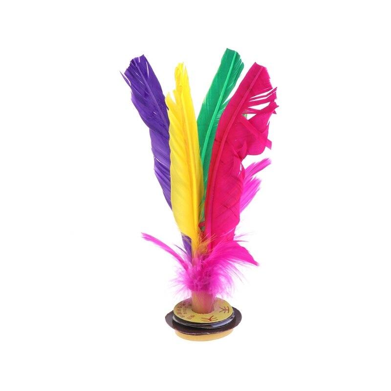 Китай Jianzi Footbal ноги кик маховик Необычные Волан из гусиных перьев фитнес - Цвет: 17cm