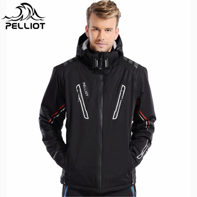 Combinaison de Ski hommes Pelliot veste de Ski + Saenshing Snowboard pantalon respirant Ski Snowboard hiver neige ensemble Super chaud imperméable - 4