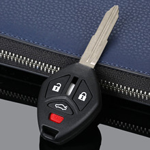4Buttons Car Replacement Auto Key Shell Keyless Remote Control Case Cover Fob For Mitsubishi 2007-2013 Uncut Blade