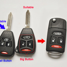New Modified Flip Folding Remote Key Shell Case For Chrysler 300C Sebring Jeep Compass Wrangler Dodge 3+1 Button Fob Key Cover