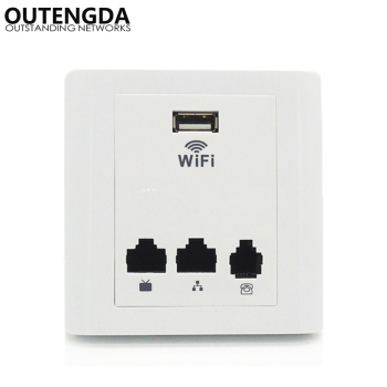 86 Mini Socket Wall Wireless AP Router Hotel Wifi Access Point IEEE802.3af POE Support Wi-Fi Repeater Extender with 2LAN WAN USB hot sales silver usb socket wireless wifi usb charging socket wall embedded wireless ap router 300m wifi repeater free shipping