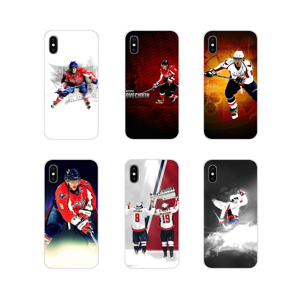 Accessories Phone Shell Covers For Apple iPhone X XR XS MAX 4 4S 5 5S 5C SE 6 6S 7 8 Plus ipod touch 5 6 Alex Ovechkin(China)
