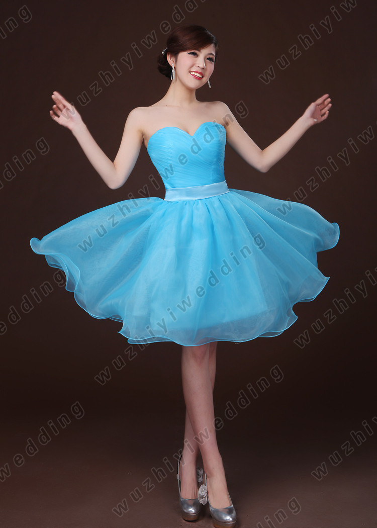 wuzhiyi New In Stock Blue/Purple/Champagne Sexy Prom Dresses Short ...