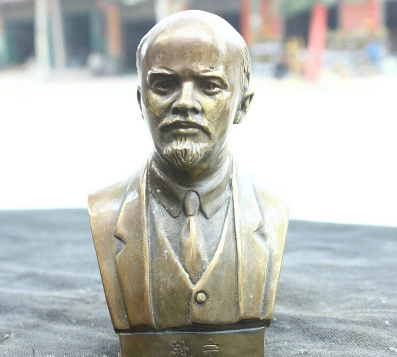 free shipping Chinese Fengshui Old Bronze Brass Statue Buddhist temple Lenin Head Sculpturefree shipping Chinese Fengshui Old Bronze Brass Statue Buddhist temple Lenin Head Sculpture