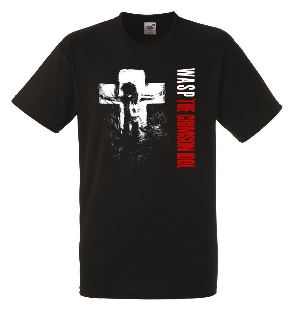 W.A.S.P. Crimson Idol Black Herren T Shirt Men Rock Band Tee Shirt