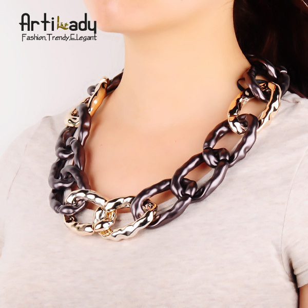Artilady new arrival fashion  chain necklace jewelry statement choker collar 2015 women jewelry
