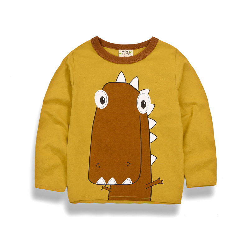 Boys T-shirt Kids Top Tees Baby Boy T Shirts Children Blouses Long Sleeve 100% Cotton Lion Cartoon Clothes Child Costume