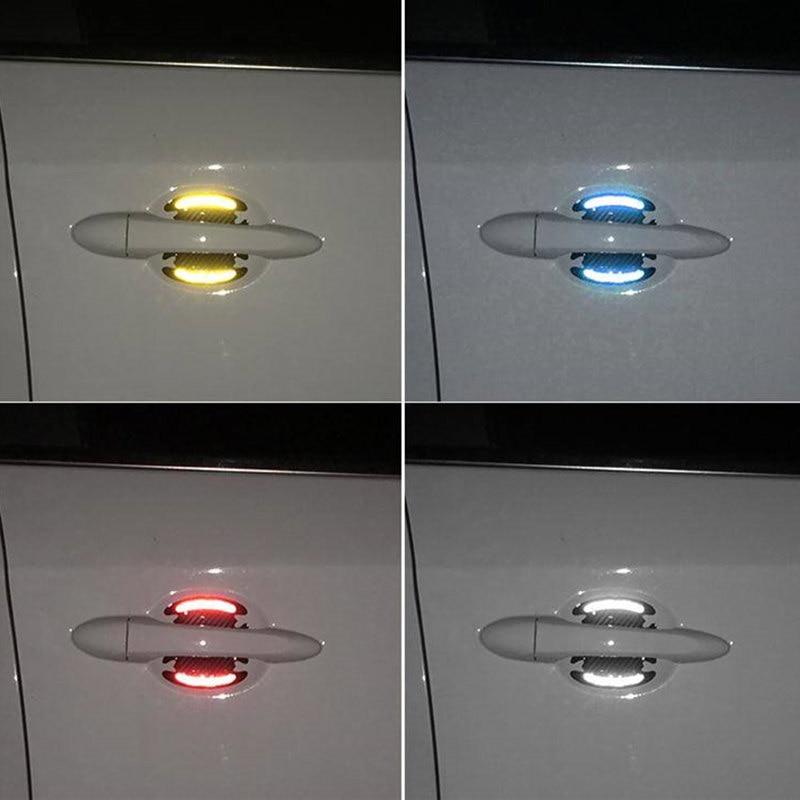 1 Piece Car Reflective Sticker Door Handle Door Bowl Protection For Ferrari BMW Audi Toyota  Honda Mazda Hyundai Mercedes Benz