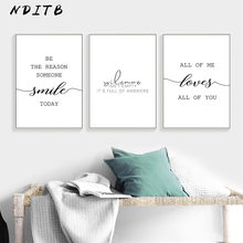 Black White Motivational Love Quote Canvas Posters Inspirational Minimalist Print Wall Art Painting Nordic Decoration Pictures(China)