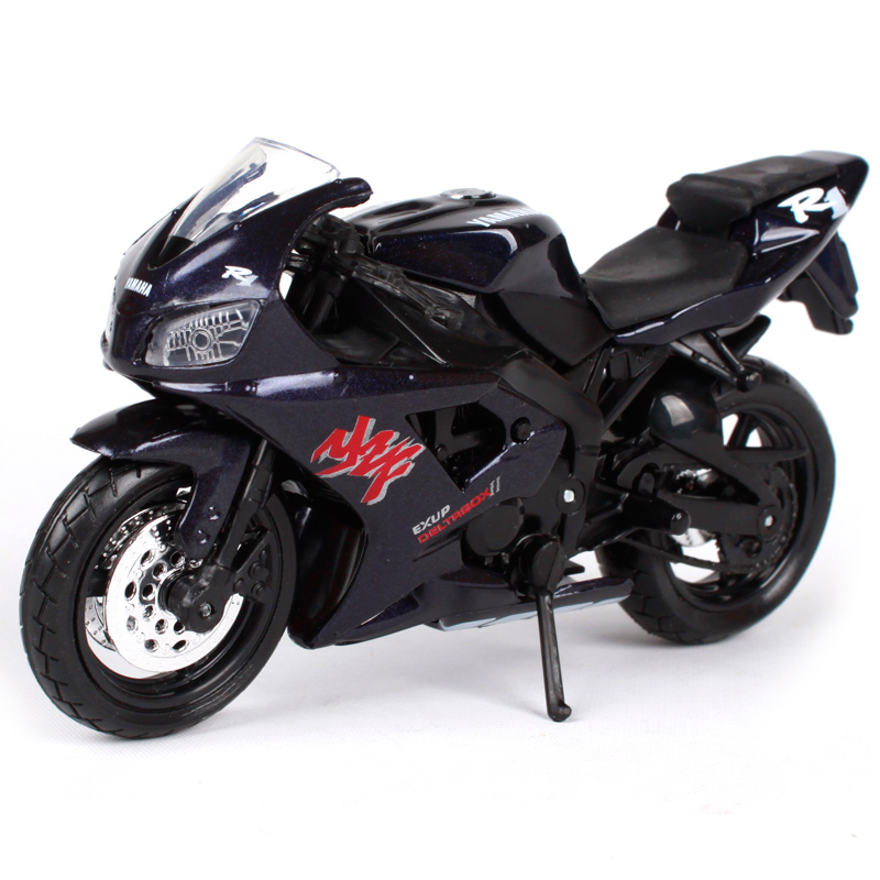Maisto 1:18 YZF-R1 검은 오토바이 다이야 몬 야마하 - 장난감 차량