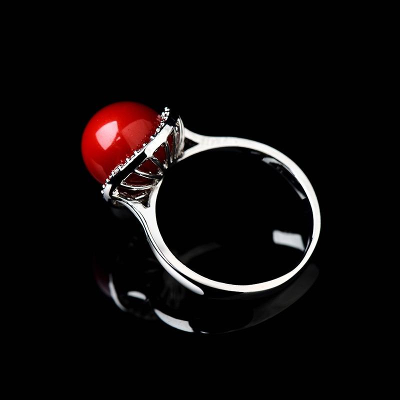 Anel Wanita Merah Buatan Karang Cincin Rose Gold Anel De Pedra - Perhiasan fashion - Foto 4