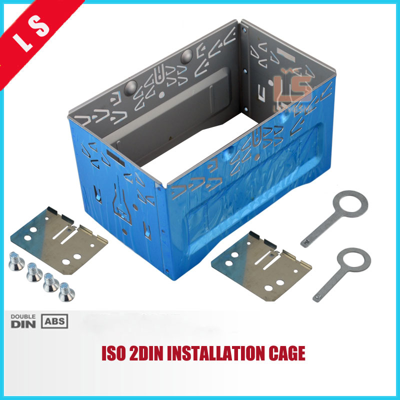 2 DIN Car Stereo Audio Refitting ISO 2DIN Installation Metal Cage With Brackets/Screws/Keys 2 din car stereo audio refitting iso 2din installation metal cage with brackets screws keys