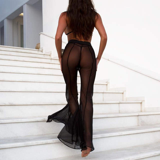 57cd63f790989 placeholder IASKY sexy see through Bikini Cover Up Women swimsuit swimwear  Bathing Suit Cover Ups mesh Beach