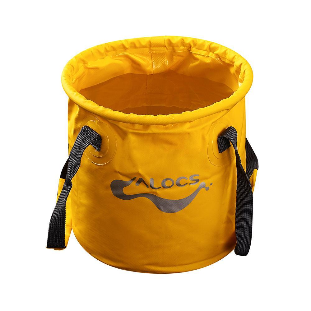 ALOCS Outdoor Folding Bucket 11L Fishing Bucket Fishing Bags Canvas Bucket Camping Hiking Carp Fishing Tackle Portable Water Bag