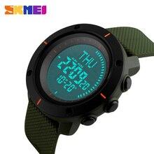 Reloj brújula al aire libre de los hombres de moda skmei marca de lujo multifunción digital resistente al agua alarma de cuenta regresiva led reloj de pulsera deportivo