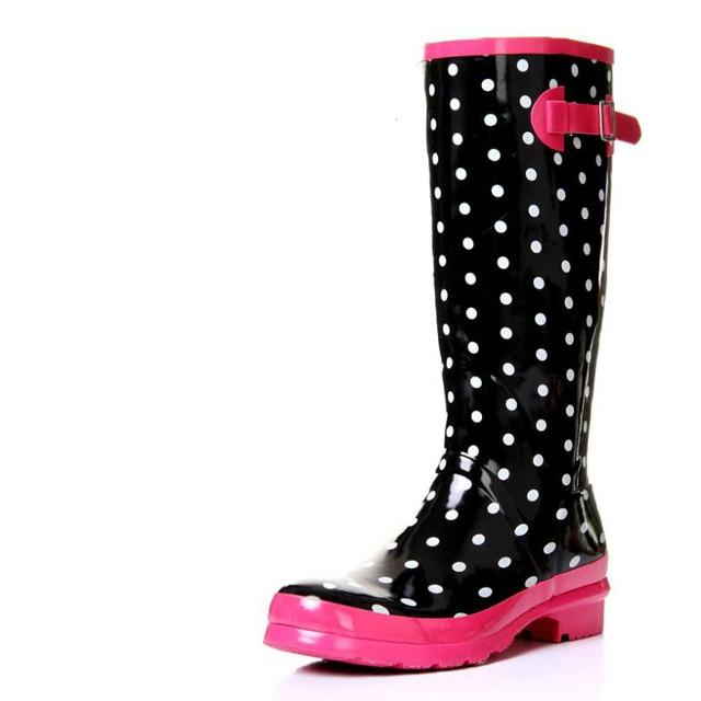 Women's Fashion Dot Rain Boot
