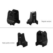 טקטי קבוע מול & אחורי Sight לייעל עיצוב סטנדרטי AR15 פתחים ברזל מראות BK ציד אבזרים