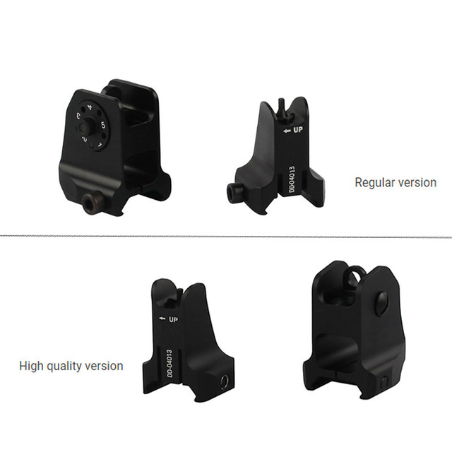 Tactical Fixed Front & Rear Sight Streamline Design Standard AR15 Apertures Iron Sights BK Hunting accessories