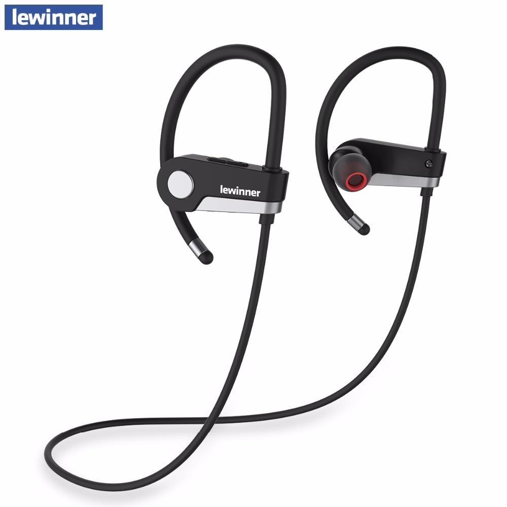 Lewinner c6 fone de ouvido bluetooth 4.1 fone de ouvido sem fio bluetooth esporte correndo fones estéreo com microfone