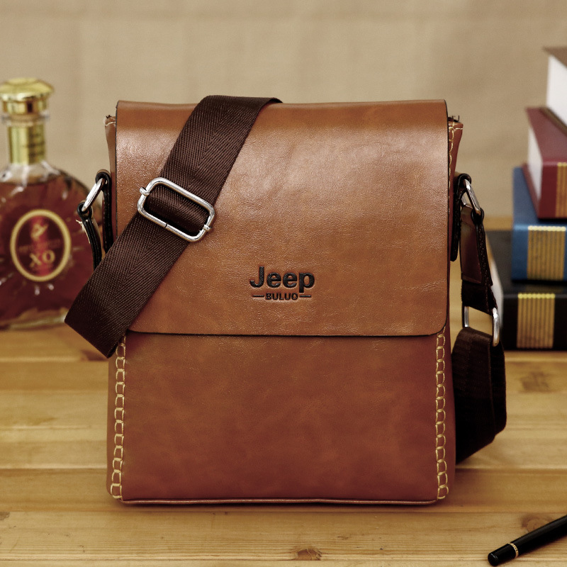 Whole 2017 New Jeep Man Bag Men S Business Casual Pu Leather Shoulder Messenger In Crossbody Bags From Luggage On Aliexpress