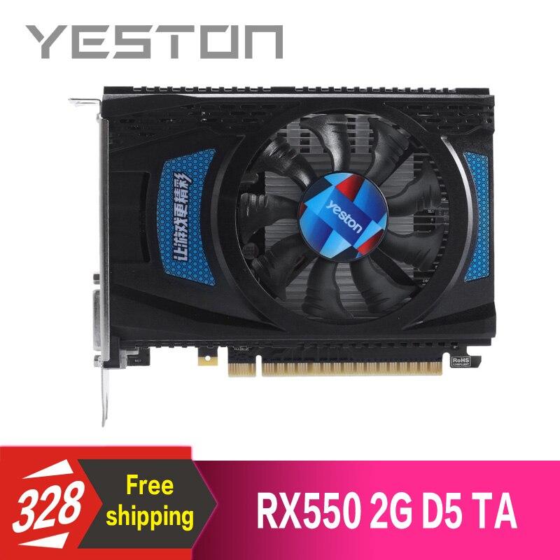 Yeston Radeon RX550 2GB GDDR5 PCI Express 3 0 DirectX12 video gaming graphics card external graphics