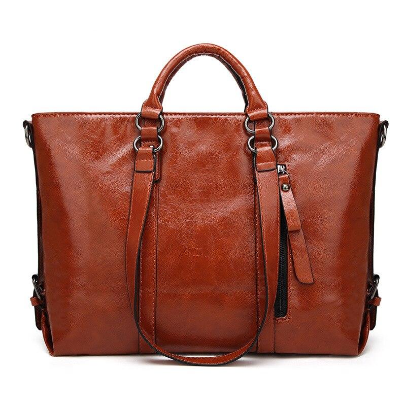 Aotian 새로운 2019 디자이너 핸드백 고품질 어깨 가방 숙녀 핸드백 패션 암소 가죽 여성 가방 갈색 색상-에서탑 핸드백부터 수화물 & 가방 의  그룹 1