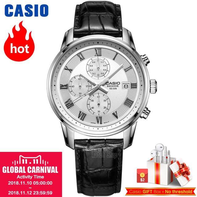 bbecbdc8dc01 Reloj Casio analógicas de los hombres de cuarzo reloj deportivo  individualidad Casual impermeable tres ojo puntero