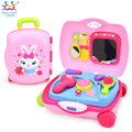 Baby Toys Hair Styling Set Encased in a Suitcase Consist of Toy Dryer,Comb, Hand Mirror,Lipstick,Lotion & Brushes Toys For Girls