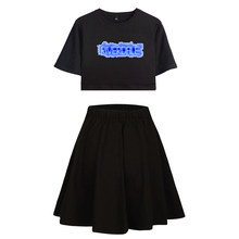 2019 Riverdale Women Set 2 Piece Shirt and Skirt Girls Club Outfits Streetwear Kpop Hip HopTracksuit Woman Sexy Casual Skirt Set(China)