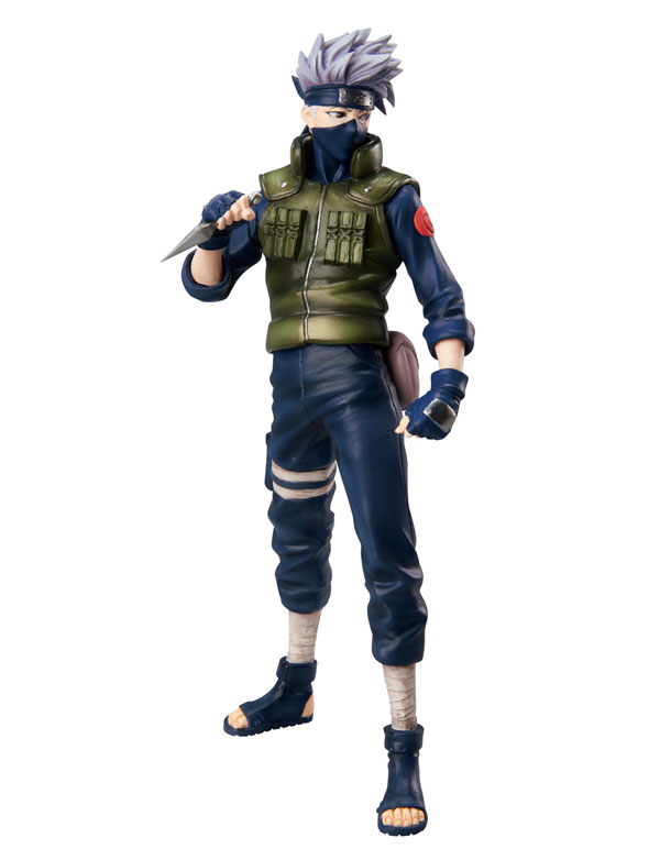 Free Shipping Japanese Anime Naruto Hatake Kakashi PVC Action Figure Model Toys Dolls 9 22cm #013 original box anime naruto action figures lightning blade hatake kakashi figure pvc model 12cm collection children baby kids toys