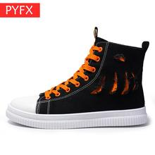 2019 summer new hot sale Korean men's casual High help canvas  black lace-up flat comfortable Sneakers students Hip hop shoes цена 2017