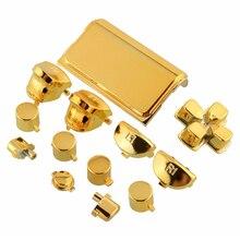 13 قطعة زر رصاصة thumbstick غطاء معدني تصفيح الذهب ل PS4 Dualshock 4 برو المراقب المالي