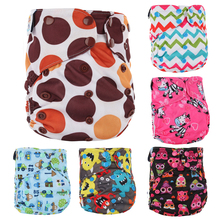 1pc front pocket design one sizes fits all baby cloth diaper nappies with color snaps, reusable pocket diaper with inner gusset,