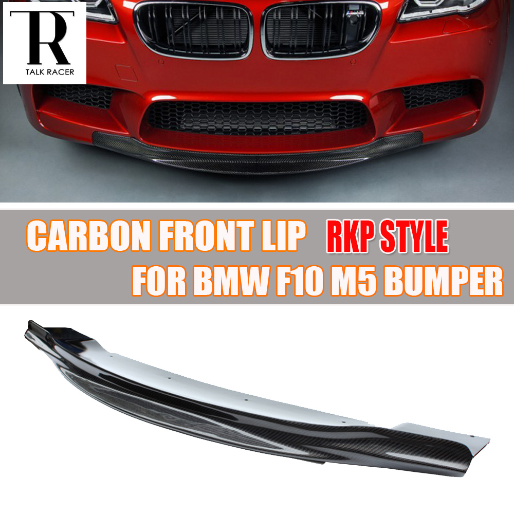 F10 M5 RPK Style Carbon Fiber Front Lip Chin Spoiler for BMW F10 M5 Bumper 2010 - 2016 ( can't fit F10 change to M5 look ) цены