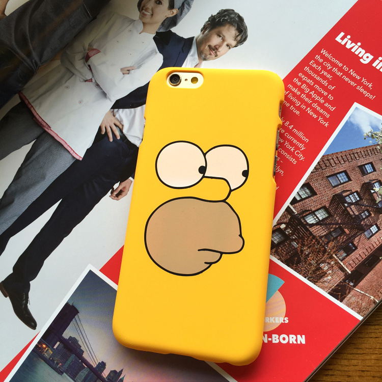 SZYHOME Phone Cases For iPhone 5 5s SE 6 6s 7 Plus Case Funny Cartoon Yellow Plastic For Apple iPhone 7 Mobile Phone Cover Case mobile phone