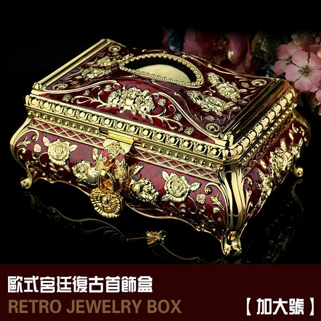 Russia with lock jewelry box Princess European style South Korea
