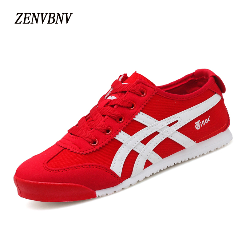 ZENVBNV New Arrival Spring Autumn Women Canvas Casual Shoes Breathable Female Casual Shoes Fashion Outdoor Shoe Red Sneakers fashion women casual shoes breathable air mesh flats shoe comfortable casual basic shoes for women 2017 new arrival 1yd103
