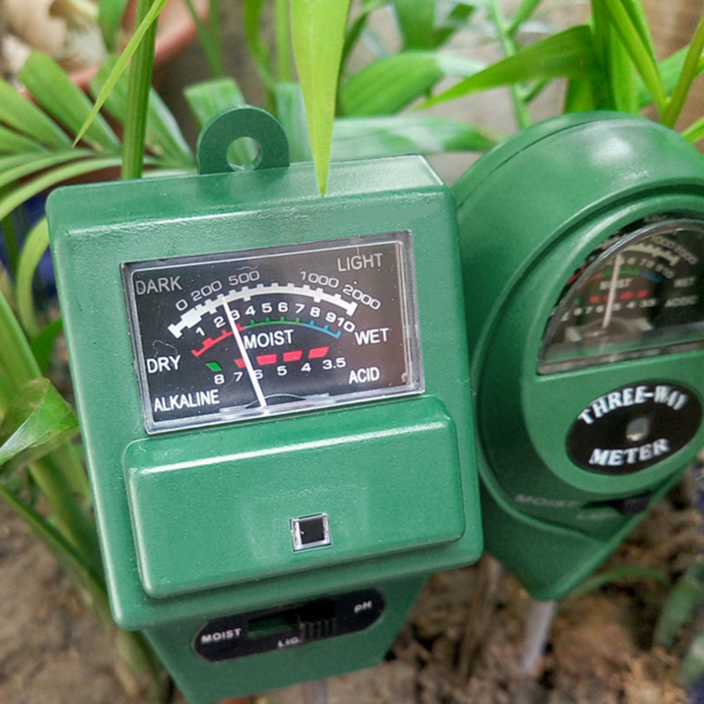 Tools Official Website New 3 In 1 Soil Ph Meter Moist Moisture Light Sensor Monitor Humidity Detector For Flowers Plants Garden With Probe 15% And To Have A Long Life.